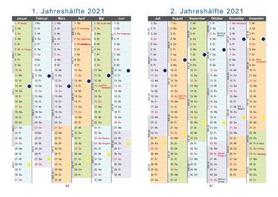 Seite aus Buchkalender: Jahresüberblicke für <?php echo 2021; ?> und <?php echo (2021+1); ?>